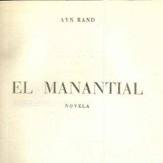 Libros de segunda mano: EL MANANTIAL. AYN RAND, 1954. Lote 17272074