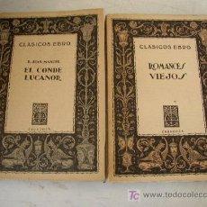 Libros de segunda mano: CLÁSICOS EBRO-Nº. 6 Y 9-1942 Y 1943-CLÁSICOS ESPAÑOLES-EDT.- EBRO. ZARAGOZA.. Lote 18507097