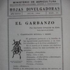 Libros de segunda mano: EL GARBANZO,SALVADOR GONZALEZ DE HARO. Lote 13759897