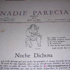 Libros de segunda mano: NADIE PARECIA, Nº1 AL 10.- COLECCIÓN COMPLETA (LA HABANA, 1942-1943). DIRECTORES JOSE LEZAMA LIMA.. Lote 27249889