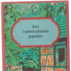 Livros em segunda mão: JOCS I ENTRETENIMENTS POPULARS. BARCELONA : AVUI, 1994. 21 X 12 CM. 64 PAG.. Lote 5252752