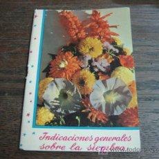 Libros de segunda mano: INDICACIONES GENERALES SOBRE LA SIEMBRA DE SEMILLAS DE FLORES. Lote 5257878