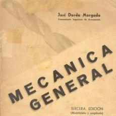 Libros de segunda mano: MECANICA GENERAL. Lote 20530670