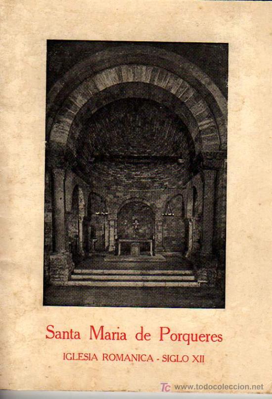 LIBRO-GUIA DE SANTA MARIA DE PORQUERAS -IGLESIA ROMANICA (Libros de Segunda Mano - Bellas artes, ocio y coleccionismo - Otros)