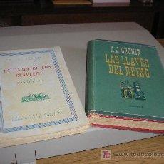 Libros de segunda mano: LA DAMA DE LOS CLAVELES Y LAS LLAVES DEL REINO 1ª ED. POR A.J.CRONIN. Lote 26439771