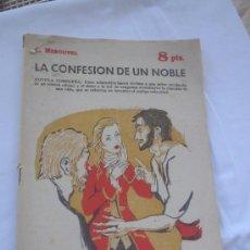 Libros de segunda mano: LIBRO NOVELA DE BOLSILLO LA CONFESIÓN DE UN NOBLE. C.MEROUVEL. AÑO 1964 N-672. Lote 5474992