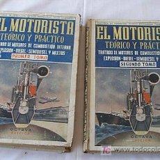 Livres d'occasion: LIBRO EL MOTORISTA TEORICO Y PRACTICO DOS TOMOS. Lote 38471072