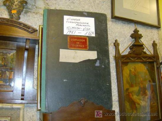 LIBRO COPIADOR DE CARTAS DE LA FIRMA HIJOS DE SIMEON VIGO AÑO 1951 - PERFECTO + INFO (Libros de Segunda Mano - Bellas artes, ocio y coleccionismo - Otros)