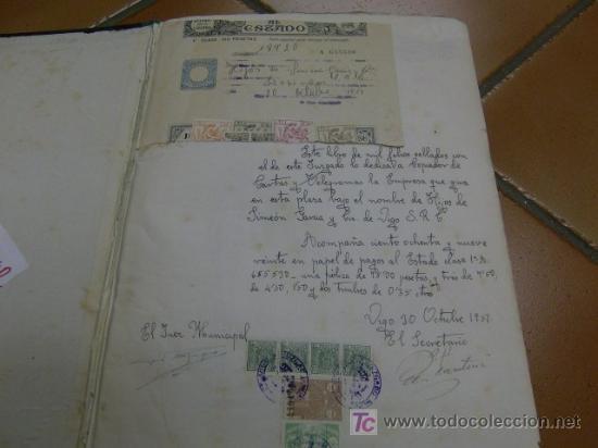 Libros de segunda mano: LIBRO COPIADOR DE CARTAS DE LA FIRMA HIJOS DE SIMEON VIGO AÑO 1951 - PERFECTO + INFO - Foto 2 - 23185092