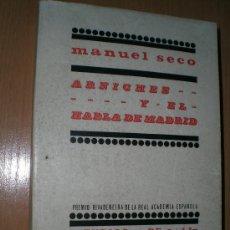 Libros de segunda mano: ARNICHES Y EL HABLA DE MADRID.. Lote 22432322