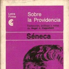 Libros de segunda mano: SOBRE LA PROVIDENCIA / SENECA. BS AS : CEAL, 1967. 18 X 10 CM. 76 P.. Lote 14242577