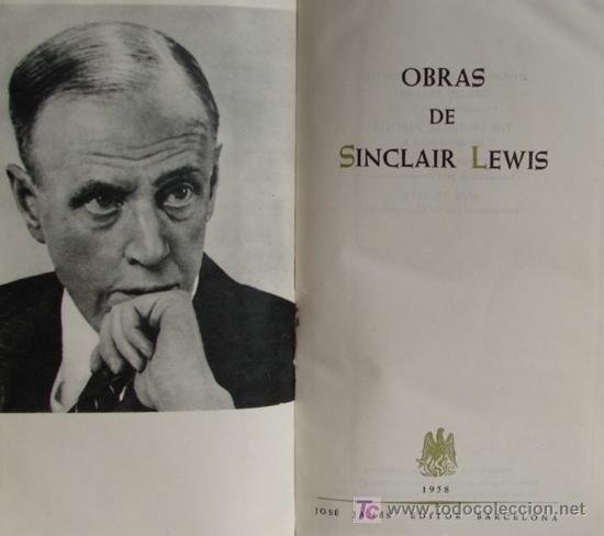 Libros de segunda mano: OBRAS, POR SINCLAIR LEWIS. 1958. PRIMERA EDICION. - Foto 2 - 27308422