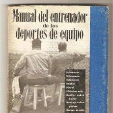 Libros de segunda mano: MANUAL DEL ENTRENADOR DE LOS DEPORTES DE EQUIPO .-GERARDO LOPEZ-CUADRA EJARQUE . Lote 27343855