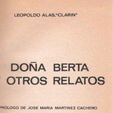 Libros de segunda mano: DOÑA BERTA Y OTROS RELATOS. Lote 22730995