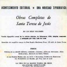 Libros de segunda mano: OBRAS COMPLETAS (L-404). Lote 3457698