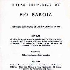 Libros de segunda mano: OBRAS COMPLETAS. TOMOS VI (L-454). Lote 3459064