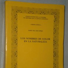 Libros de segunda mano: LOS NOMBRES DE COLOR EN LA NATURALEZA.. Lote 27493037