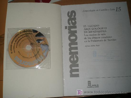 Libros de segunda mano: EL LEGADO ARQUEOLÓGICO DE MENDANDIA. LOS MODOS DE VIDA DE LOS ÚLTIMOS CAZADORES...(BURGOS) - Foto 2 - 24986782