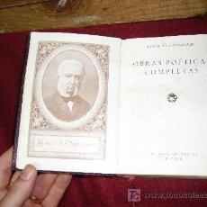 Libros de segunda mano: OBRAS POETICAS COMPLETAS DE RAMON DE CAMPOAMOR. Lote 26350153