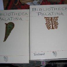 Libros de segunda mano: BIBILOFILIA BIBLIOGRAFÍA: MITTLER, E. (ED.). BIBLIOTHECA PALATINA. HEIDELBERG, BRAUS, 1986, 2 VOLS.,. Lote 27256668