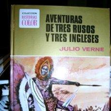 Libros de segunda mano: AVENTURAS DE TRES RUSOS Y TRES INGLESES ( JULIO VERNE ) PRIMERA EDICION. Lote 27362775