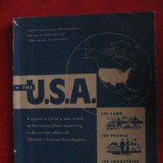 Libros de segunda mano: THE U.S.A. - ITS LAND - ITS PEOPLE - ITS INDUSTRIES. Lote 6853902