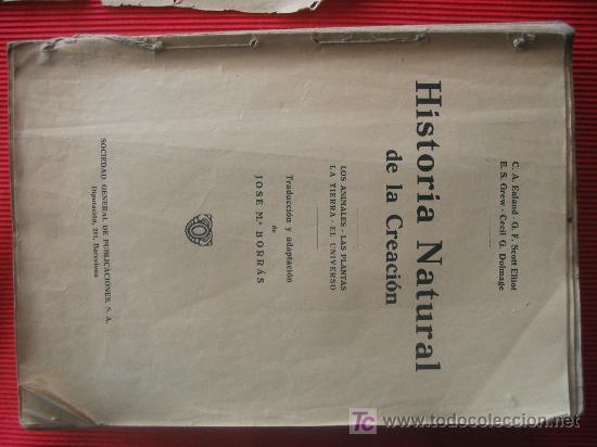 HISTORIA NATURAL DE LA CREACION (Libros de Segunda Mano - Ciencias, Manuales y Oficios - Otros)