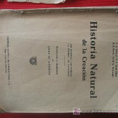 Libros de segunda mano: HISTORIA NATURAL DE LA CREACION. Lote 6867736