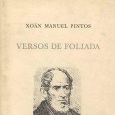 Libros de segunda mano: VERSOS DE FOLIADA. Lote 25495719