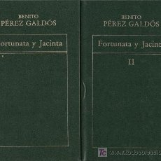 Libros de segunda mano: 2 LIBROS DE LA OBRA FORTUNATA Y JACINTA, DE BENITO PÉREZ GALDÓS. SÍMIL PIEL VERDE CON LETRAS EN ORO.. Lote 23257143