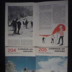 Libros de segunda mano: CAMINOS DE ESPAÑA. ESTACIONES INVERNAL EDITADO POR COMPAÑIA ESPAÑOLA DE PENICILINA. 16 PAG. CAP.. Lote 8743350
