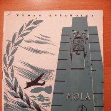 Libros de segunda mano: TEMAS ESPAÑOLES - EL GENERAL MOLA. Lote 7374431