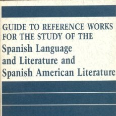 Libros de segunda mano: GUIDE FOR THE STUDY OF THE SPANISH LENGUAGE. HENSLEY C. WOODBRIDG, 1987. Lote 7943818
