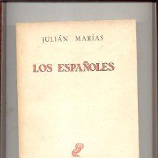 Libros de segunda mano: LOS ESPAÑOLES JULIAN MARIAS REVISTA OCCIDENTE MADRID 1962. Lote 10684661