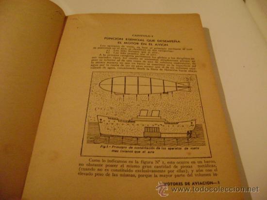 Libros de segunda mano: MOTORES DE AVIACION.Tomo I. Autor: Arnoldo LUCIUS. Dibujos de Miguel Rainone. - Foto 2 - 8154748