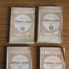 Libros de segunda mano: 4 TOMOS FORTUNATA Y JACINTA DOS HISTORIAS DE CASADOS .. POR BENITO PÉREZ GALDOS 1944. Lote 22941001