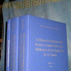 Libros de segunda mano: CATALOGO DE PARTITURAS DEL ARCHIVO CANUTO BEREA DE A CORUÑA - MONUMENTAL OBRA.. Lote 27507978