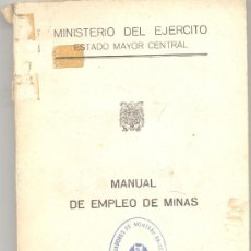 Libros de segunda mano: MANUAL EMPLEO MINAS 1968. Lote 13516117