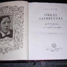 Libros de segunda mano: OSCAR WILDE, OBRAS COMPLETAS, EDC, AGUILAR, MADRID 1949, 3 EDC, . Lote 13456973