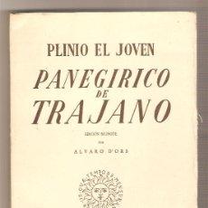Libros de segunda mano: PANEGÍRICO DE TRAJANO .- PLINIO EL JOVEN. Lote 26345428