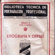 Gebrauchte Bücher - LITOGRAFÍA Y OFFSET.JUAN OLLER. 1942. - 8386800