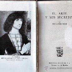Libros de segunda mano: EL ARTE Y SUS SECRETOS. MAX J. FRIEDLÄNDER. EDITORIAL JUVENTUD 1949.. Lote 14350934