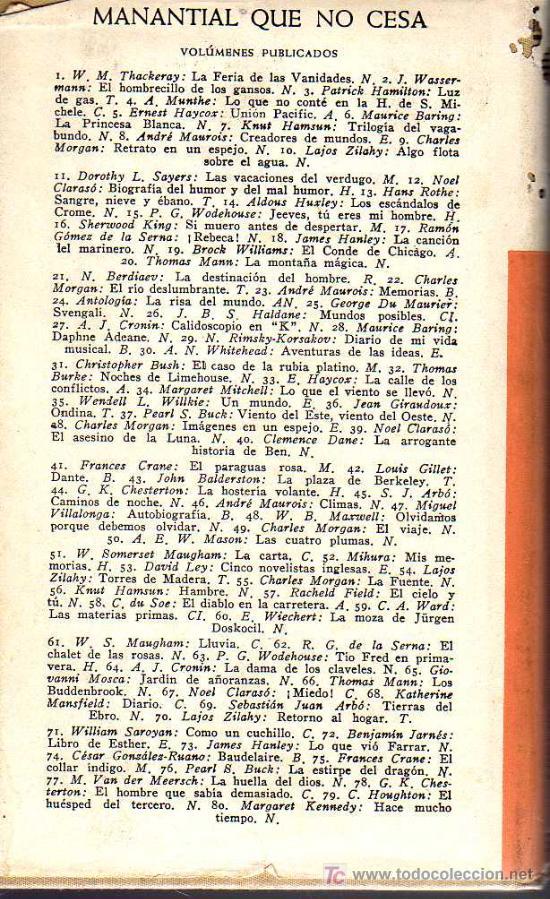 Libros de segunda mano: VIENTO DEL ESTE VIENTO DEL OESTE - PEARL S. BUCK - MANANTIAL QUE NO CESA - JOSÉ JANÉS EDITOR 1950 - Foto 2 - 10547520