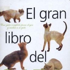 Libros de segunda mano: EL GRAN LIBRO DEL GATO UNA GUIA COMPLETA PARA ELEGIR Y CUIDAR SU GATO (AYP-43). Lote 19127931