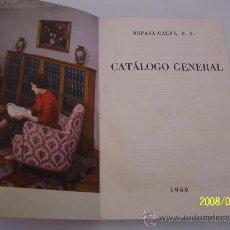 Libros de segunda mano: CATÁLOGO GENERAL, ESPASA CALPE-1960.. Lote 23728597