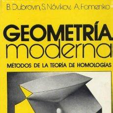 Libros de segunda mano: GEOMETRIA MODERNA (MA-26). Lote 147582374