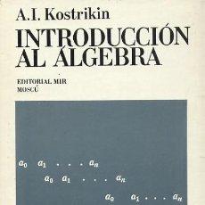 Livres d'occasion: INTRODUCCION AL ALGEBRA (MA-37). Lote 211467697