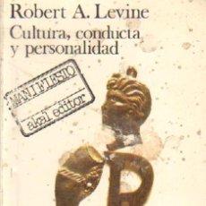 Libros de segunda mano: CULTURA CONDUCTA Y PERSONALIDAD (FI-50). Lote 262905290