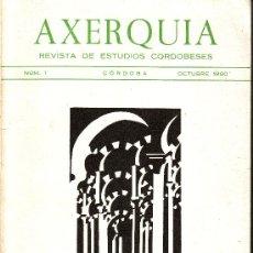 Libros de segunda mano: AXERQUIA. REVISTA DE ESTUDIOS CORDOBESES. OCTUBRE 1980.. Lote 9089779