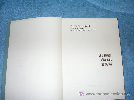 Libros de segunda mano: LOS JUEGOS OLIMPICOS ANTIGUOS - CONRADO DURANTEZ - BELLAMENTE ILUSTRADO. - Foto 2 - 16122581